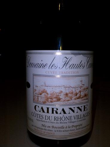 2009 Cairanne Cotes du Rhone